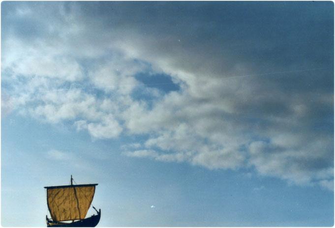 Wikinger Schiffsmodell 1:32, gebaut von Manfred Porath