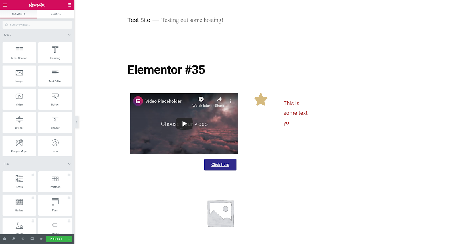 elementor wordpress page builder plugin features