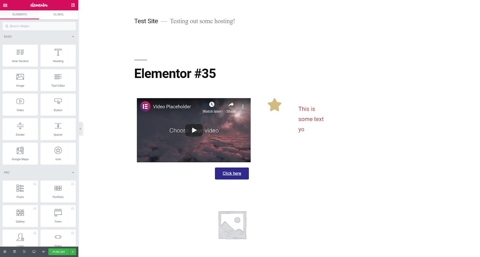 elementor wordpress page builder plugin features