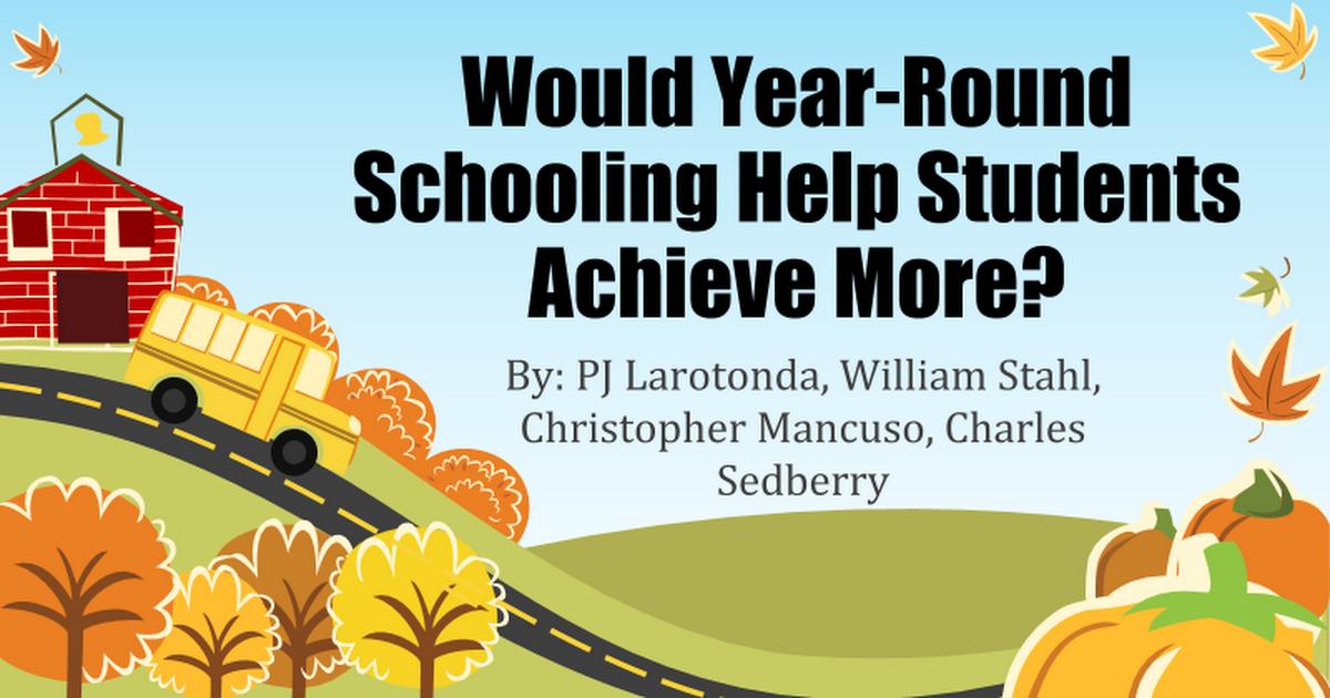 year round schooling