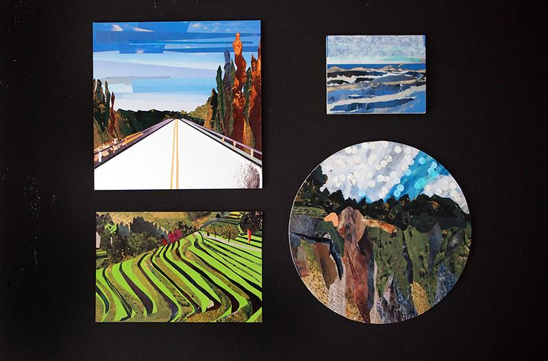 landscapes made of paper
