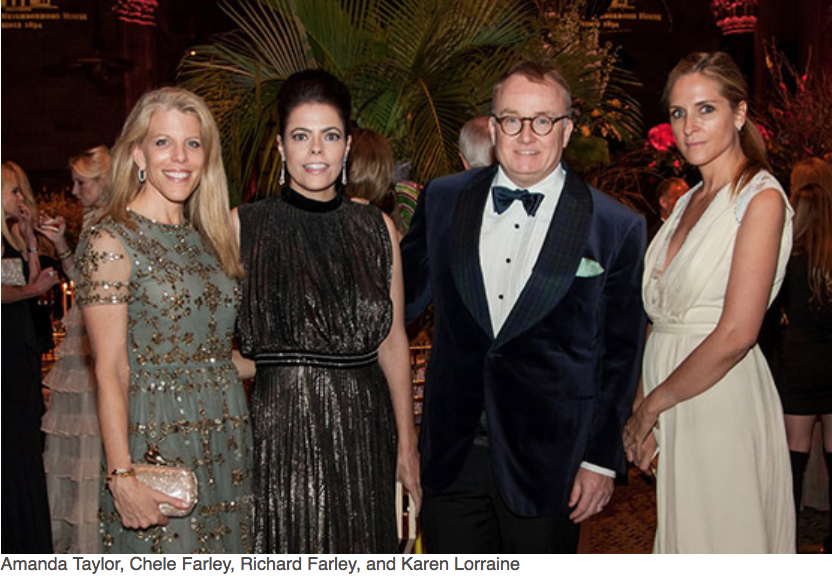 Karen Klopp, Hilary Dick article for New York Social Diary, What to wear to a black tie gala for Lenox Hill Neighborhood Association.   Amanda Tylor, Chele Farley, Richard Farley,Karen Lorraine.