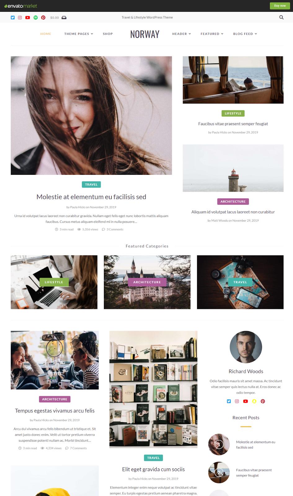 Best WordPress Instagram Theme Norway
