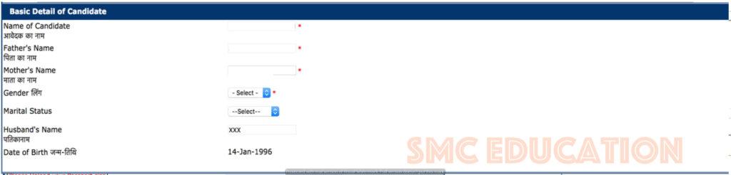 04 Step -Rajasthan PTET Online Application