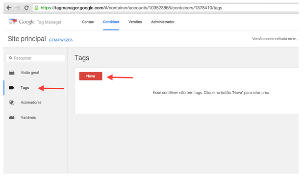 Google Tag Manager: tagueamento