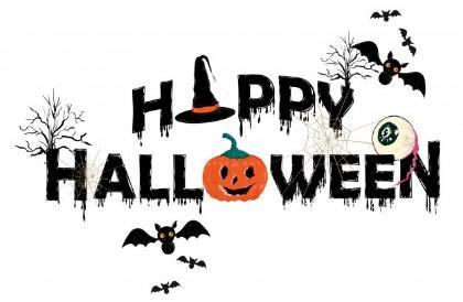 Premium Vector | Happy halloween horror typo vector illustration