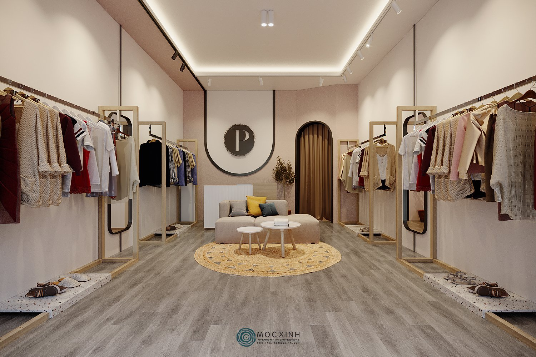 Thiết kế nội thất cho shop thời trang