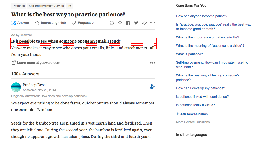 Use Quora to identify problems