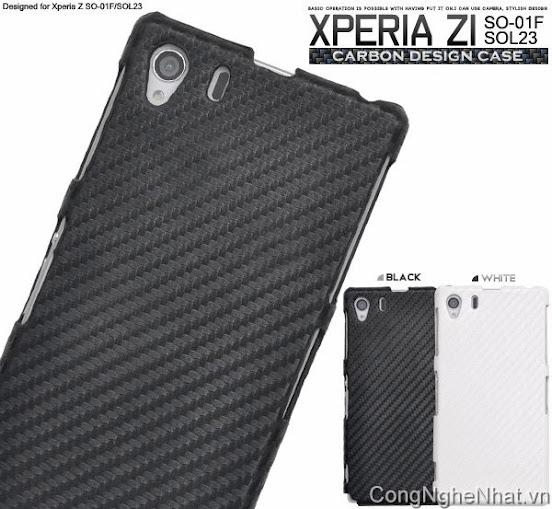 Ốp lưng Xperia Z1 (so-01f)vân carbon