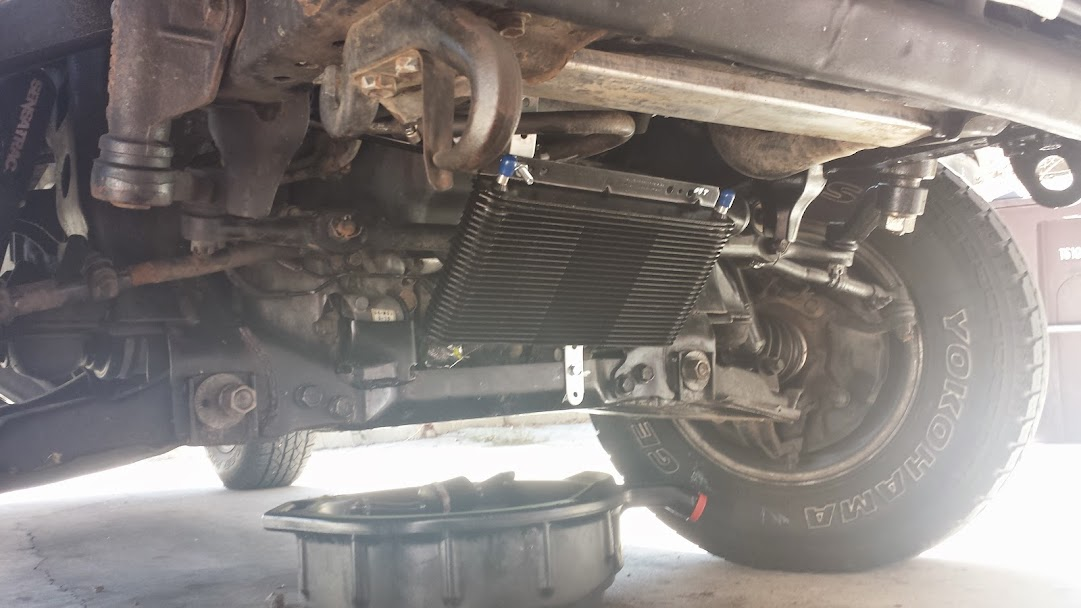 B&M Transmission Oil Cooler Install - YotaTech Forums