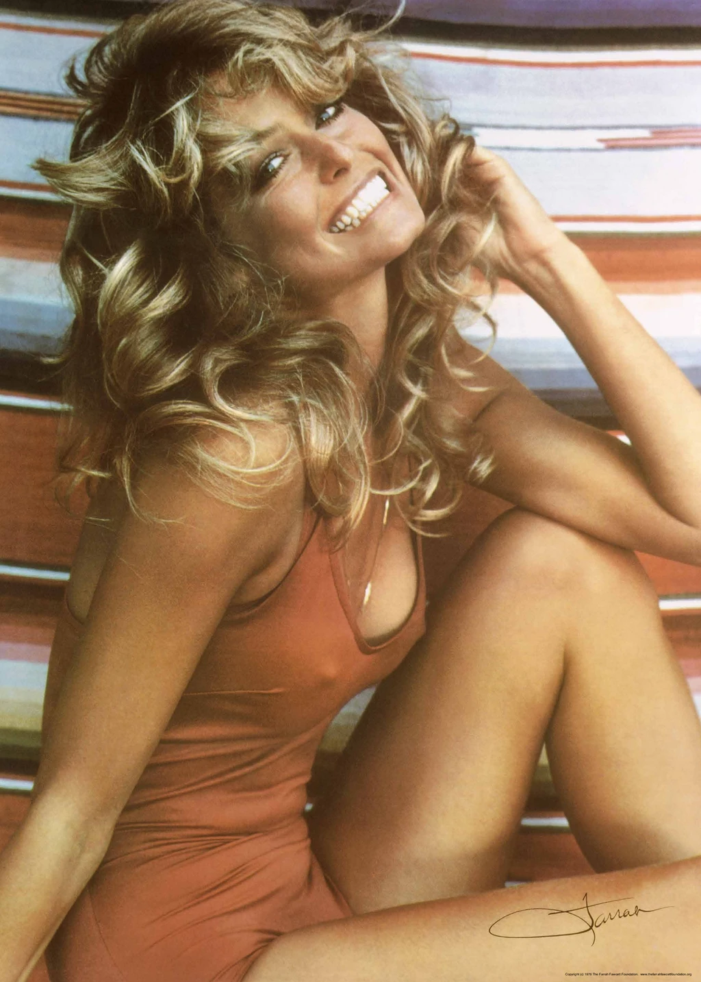 Farrah Fawcett's iconic look is a form of a shag! It's got loads of visible layers in the front that transition into longer layers in the back. Her haircut inspired the 90's staple, the Rachel, and the modern shag we're seeing in 2020.