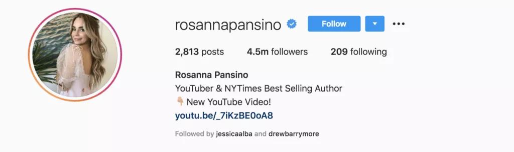 Rosanna Pansino | Instagram bio