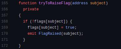 Chainlink: code block for tryToRaiseFlag function