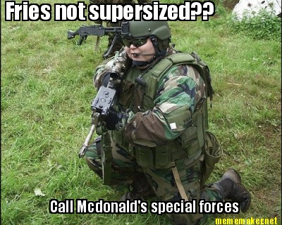 Soldado militar do McDonalds
