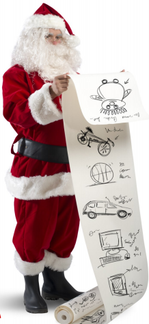 Santa with letters