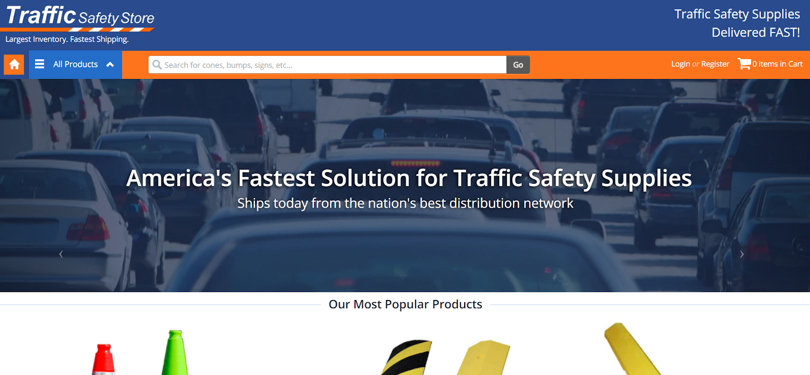 b2b ecommerce site for traffic safety equipment