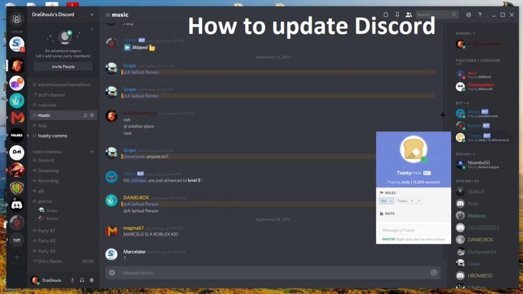 update discord