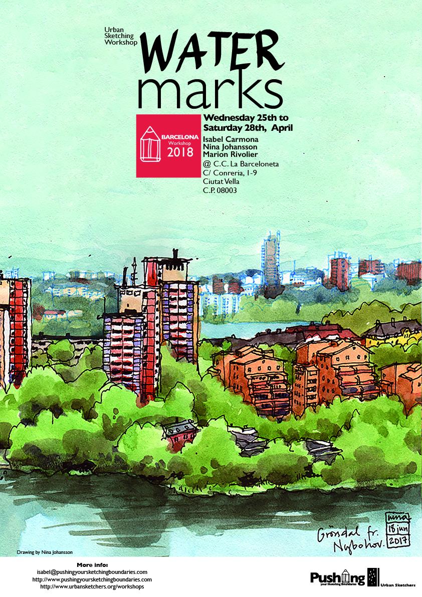 Watermarks Pushing Your Sketching Boundaries Barcelona