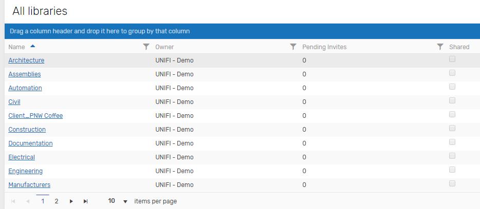 UNIFI Web Portal Libraries