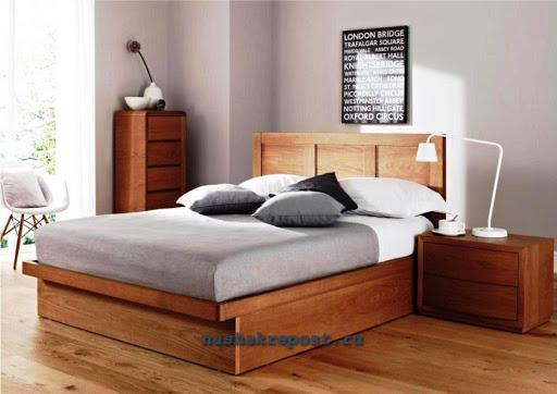 Кровать из ЛДСП с подъемным механизмом