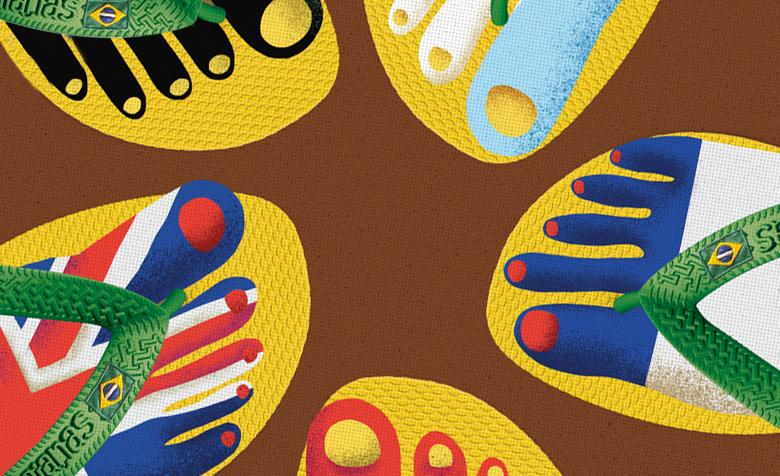 To celebrate the '98 World Cup Havaianas launch