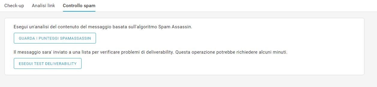 controllo spam