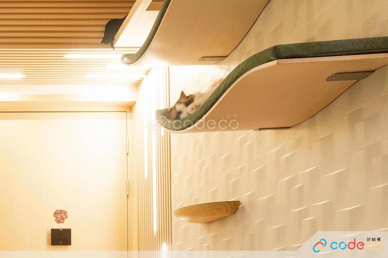 寵物綠色防火膠板貓抓柱跳台