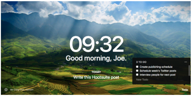 Momentum chrome extensions for social media marketers