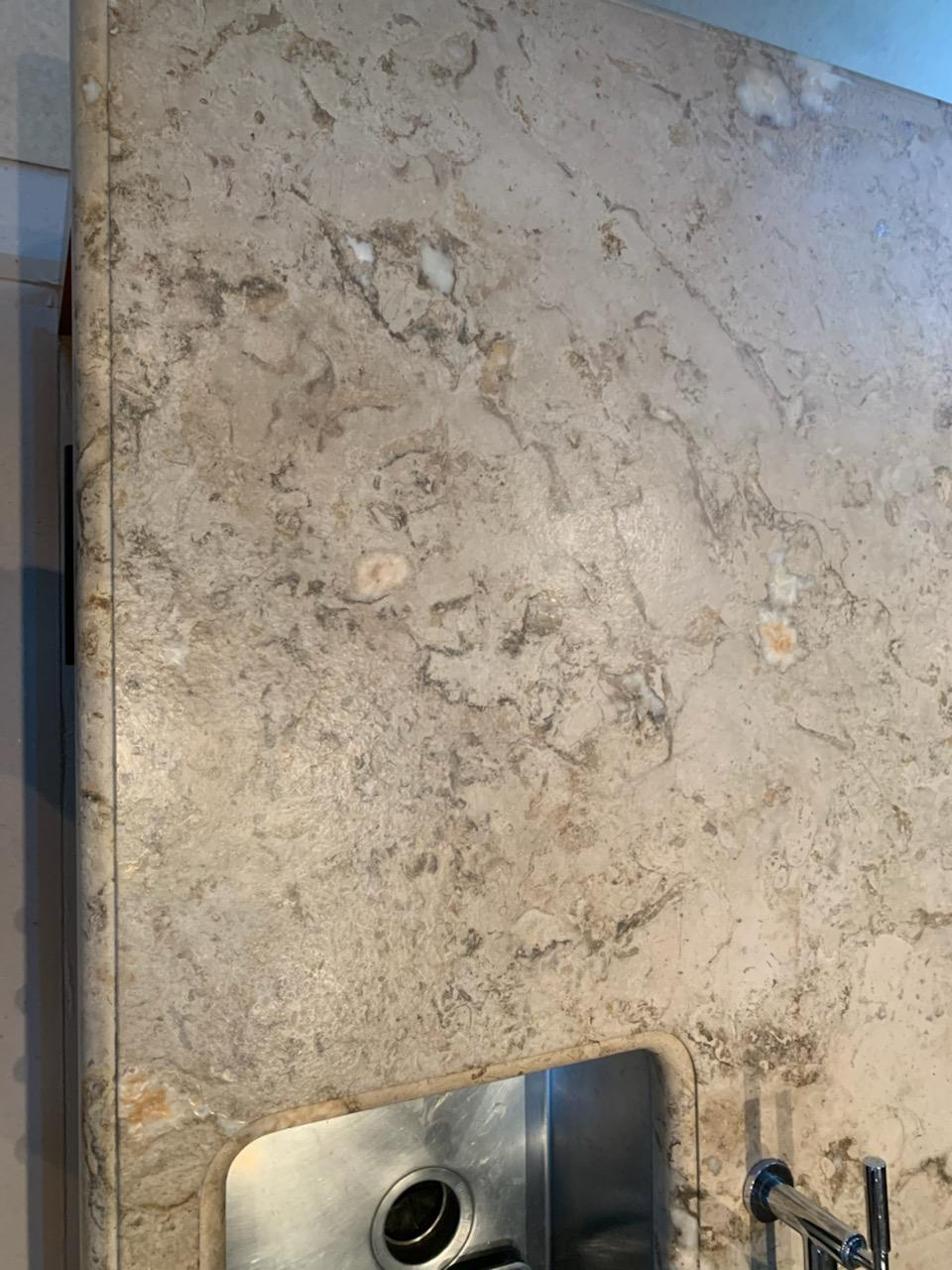 After Hammond Knoll fixed a fire-damaged granite countertop