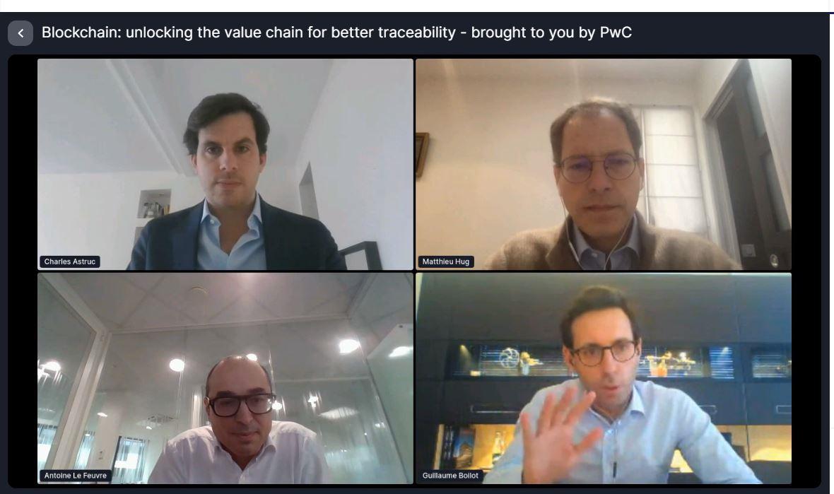 Illustration de la conférence sur la blockchain et la traçabilité lors du PBWS !