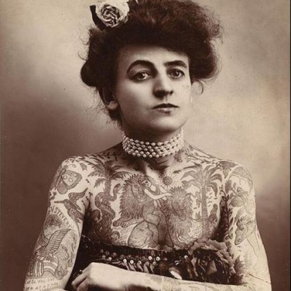 Foremothers of the tattoo trade legendary female for Girl tattoo artist