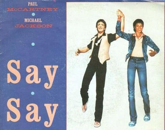 Paul MacCartney y Michael Jackson
