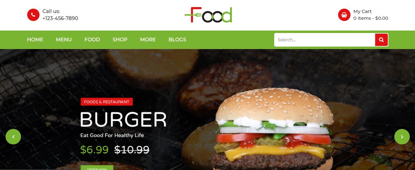 Food - Opencart theme
