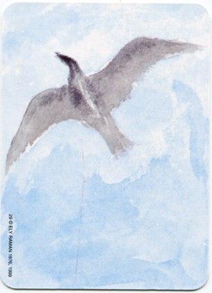 Карта из колоды метафорических карт Ох: птица в небе