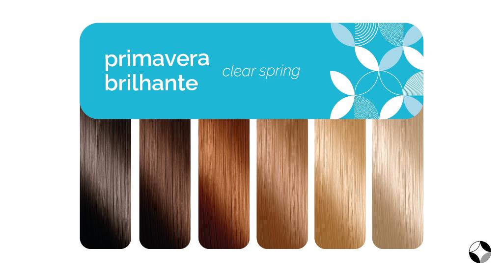 tons de cabelo para quem é primavera brilhante