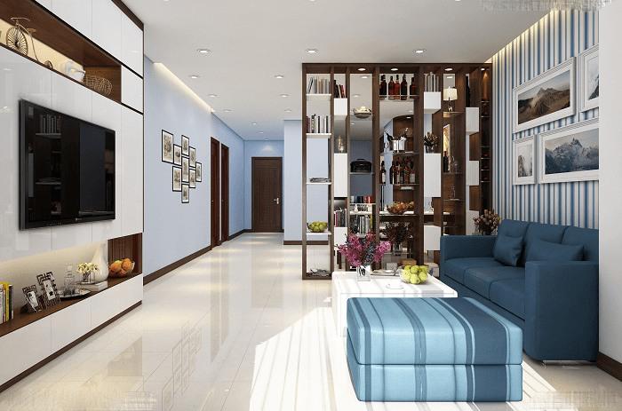 giá thiết kế và thi công nội thất phòng khách