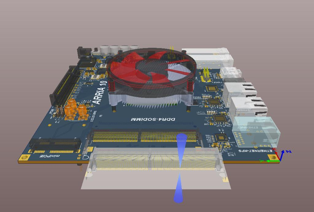 Screenshot of AD18 3D complex placement in 3D viewing software