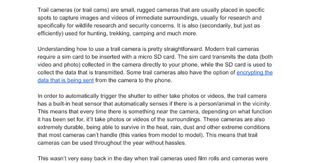 (Tech) What is a trail camera, its functionalities and why you should buy one