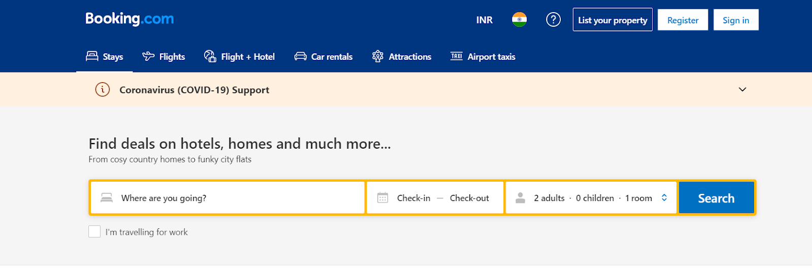 Screenshot of Booking.com - Travel Search Engine