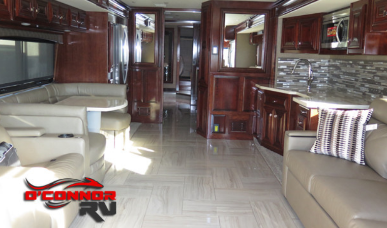 Luxurious interior of Fleetwood Discovery at O'Connor RV