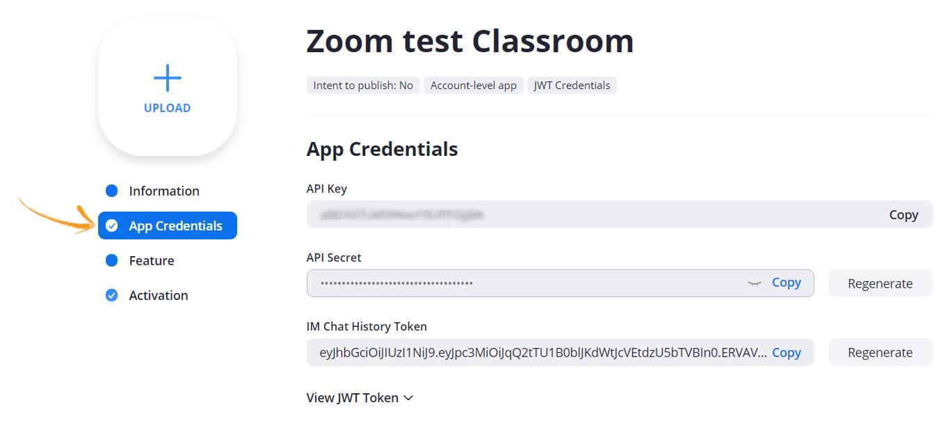 API key and API Secret key
