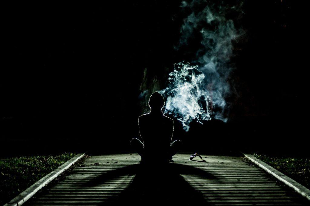Сидим во время медитации ничего не делай