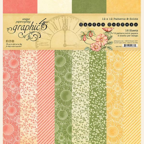 Garden Goddess 12x12 Patterns & Solids pad