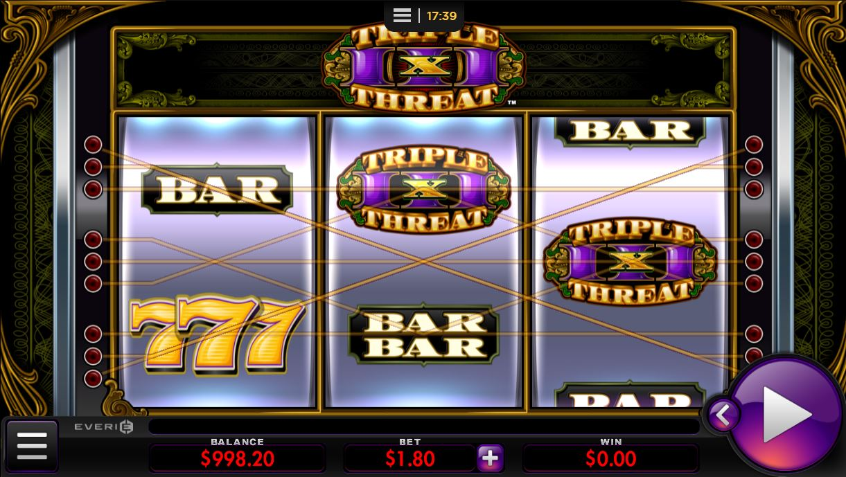Triple Threat by Everi online slot casino game