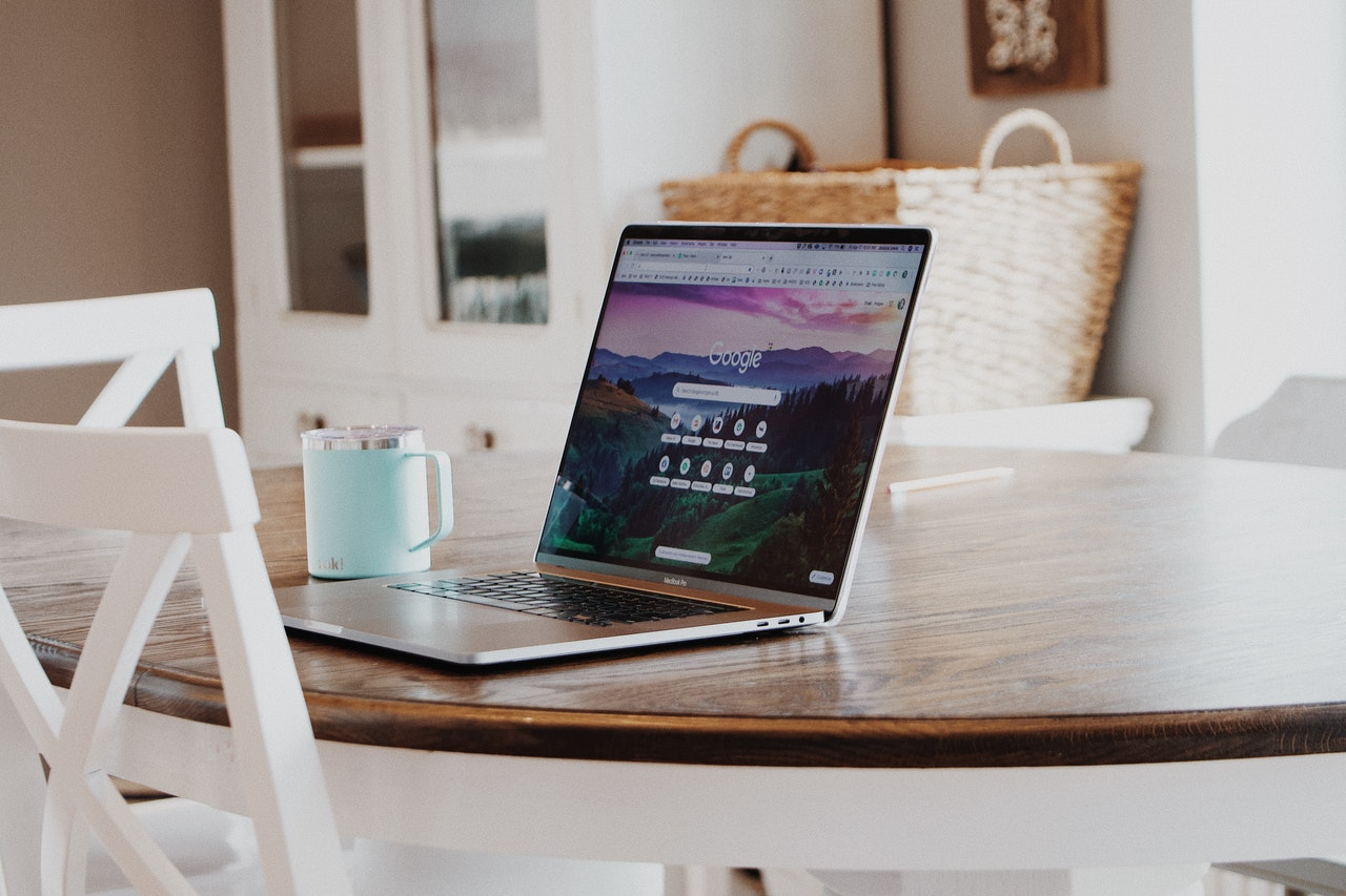 A minimalistic desk.