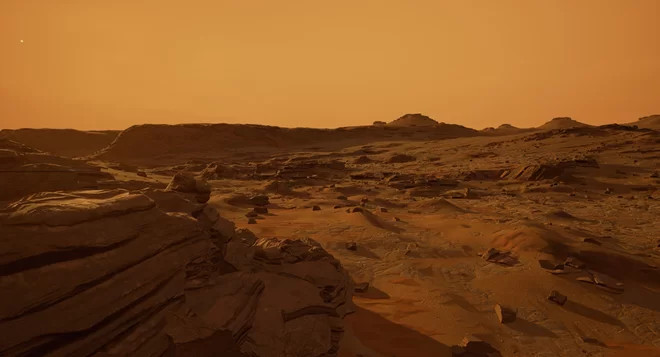 Người dùng có thể dạo bước ở bất kỳ điểm nào trên Sao Hỏa để khám phá và thu thập mẫu vật.