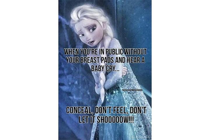 breastfeeding meme frozen