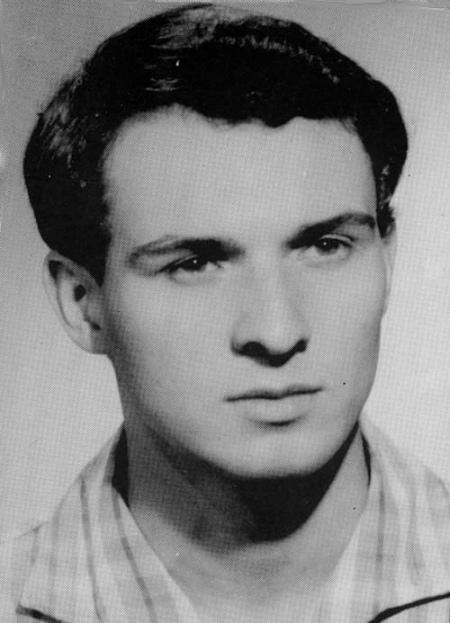 Ян Палах, фото із залікової книжки філософського факультету
