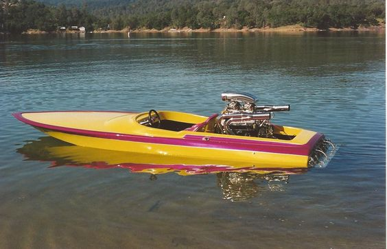 Yellow And Red Boat Paint Design