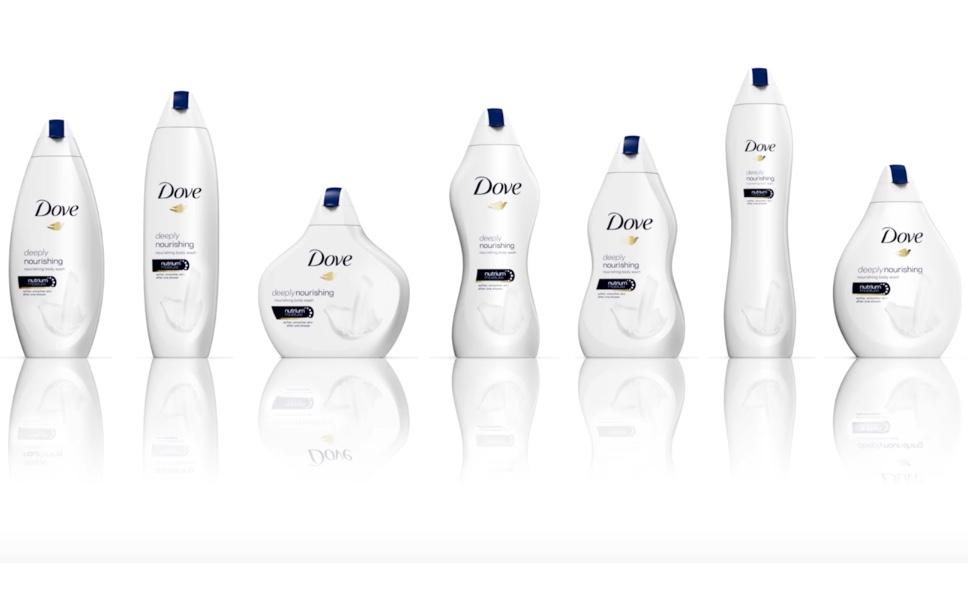 Hình dáng chai gây tranh cãi của Dove (cre: socialpilot)